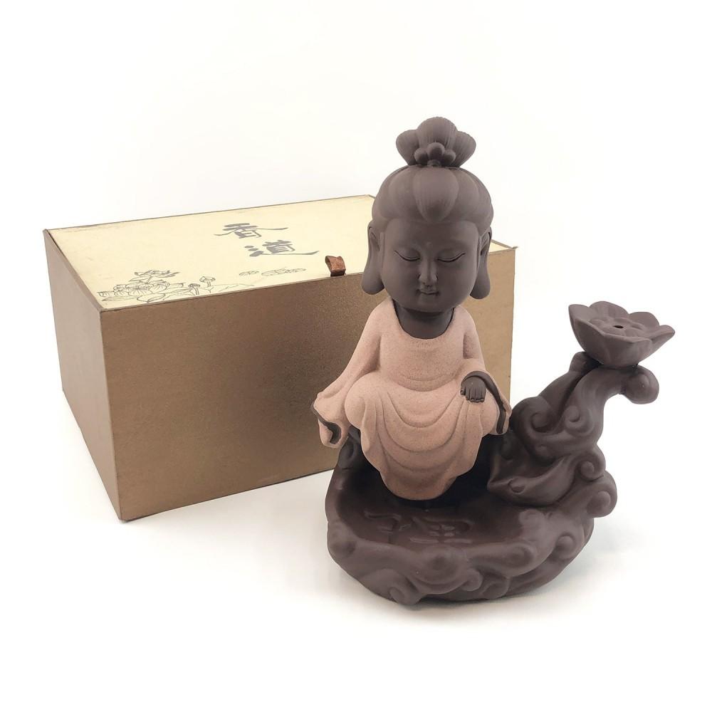 Incensário Kwan Yin Efeito Cascata 25cm - Foto 4