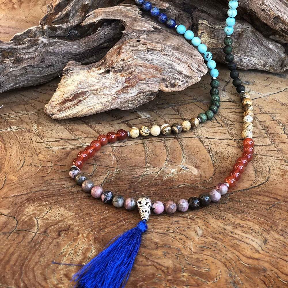 Japamala Chakras Mix de Pedras - Foto 4