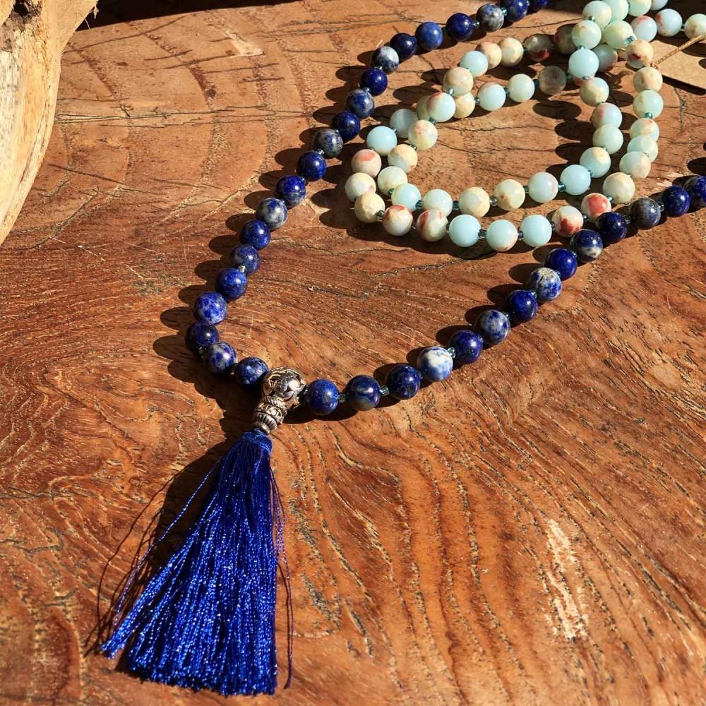 Japamala Lapis Lazuli e Agalmatolito - Foto 4