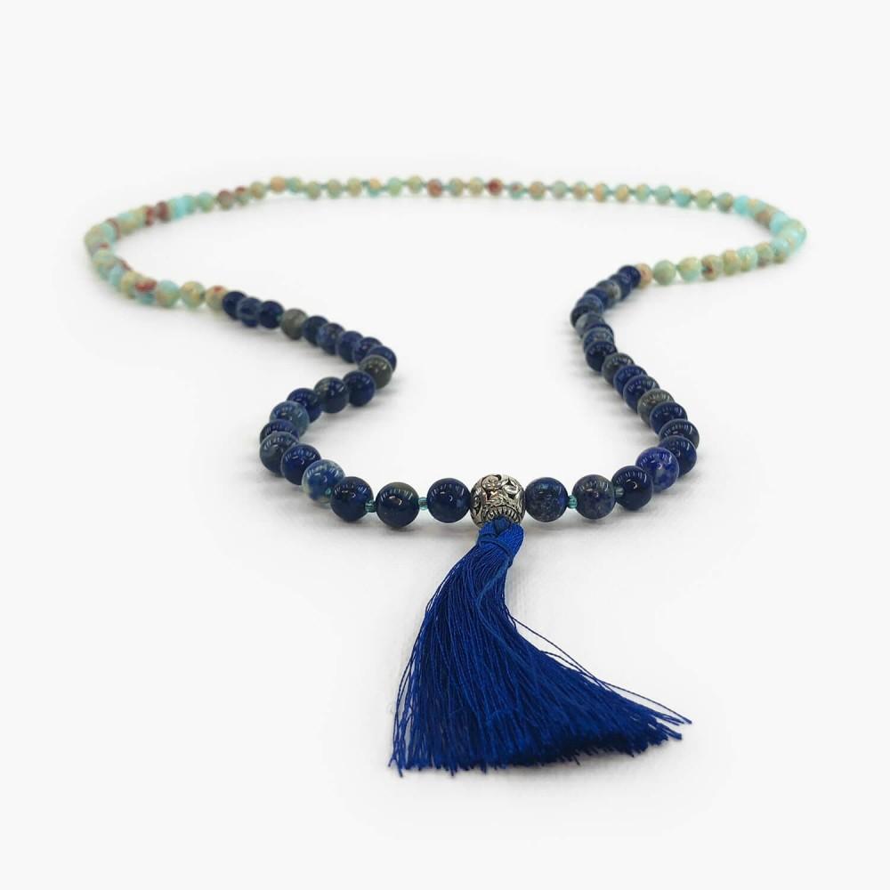 Japamala Lapis Lazuli e Agalmatolito - Foto 1