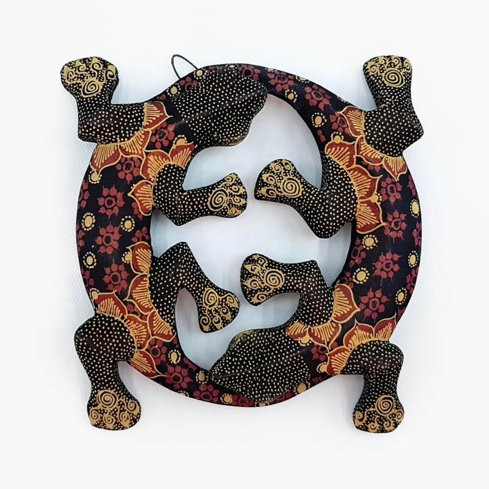 Escultura Lagartixas Batik - Foto 2