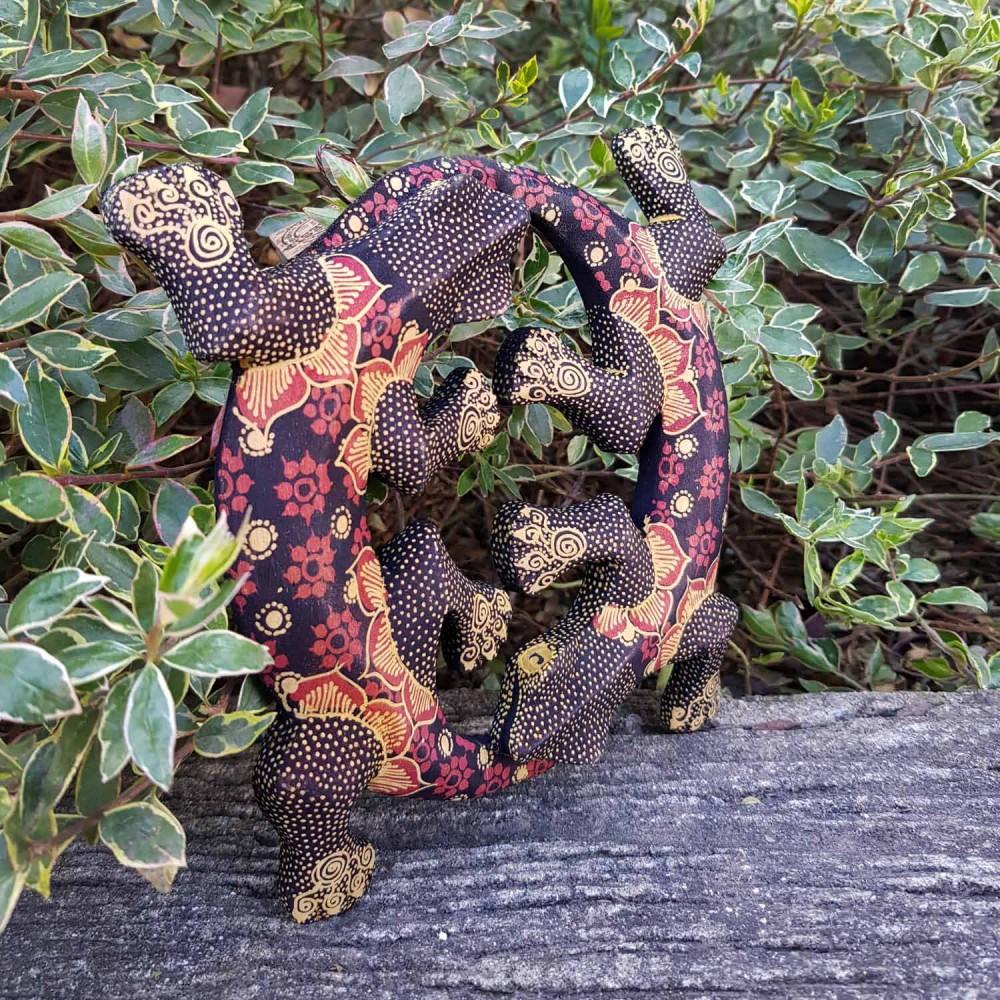 Escultura Lagartixas Batik - Foto 1
