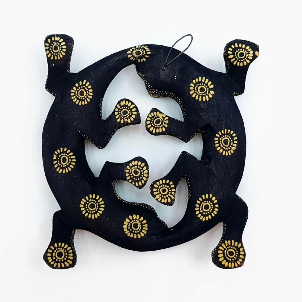 Escultura Lagartixas Batik - Foto 3