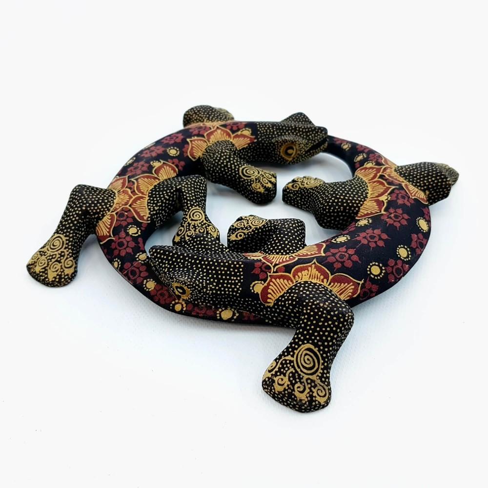 Escultura Lagartixas Batik - Foto 4