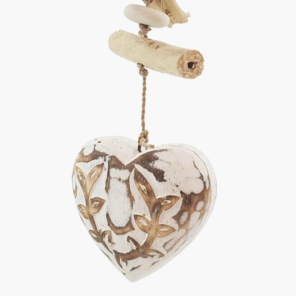 Móbile Coração Branco - 40cm   - Foto 1