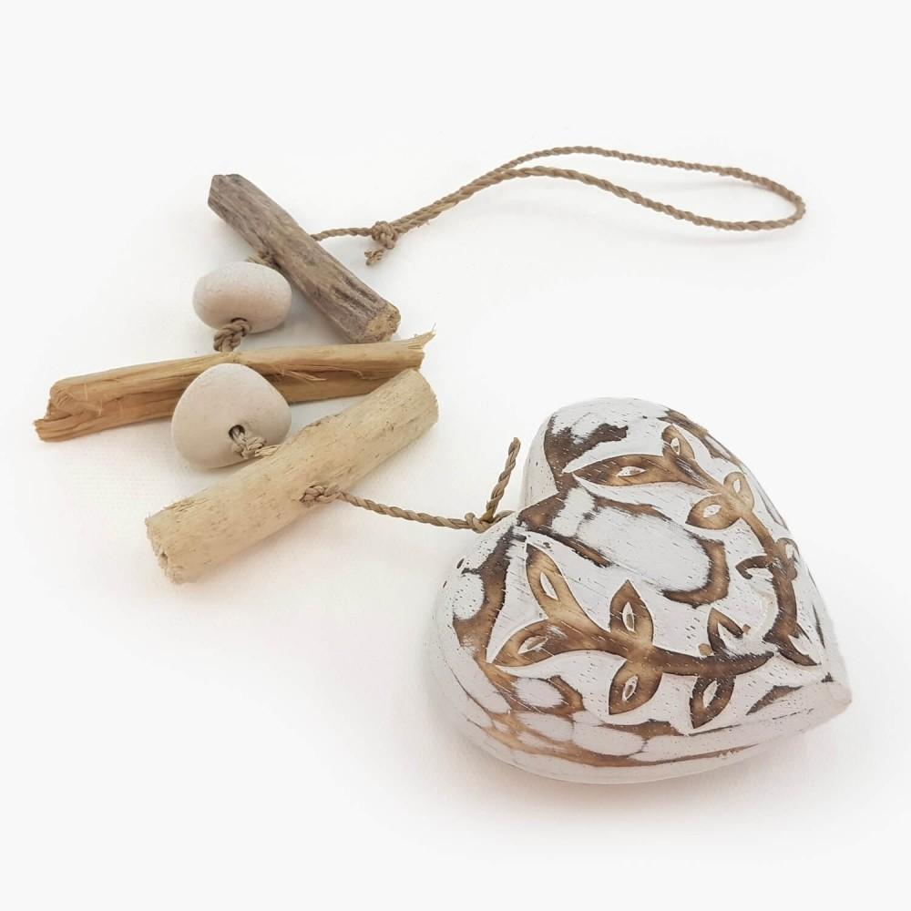 Móbile Coração Branco - 40cm   - Foto 3
