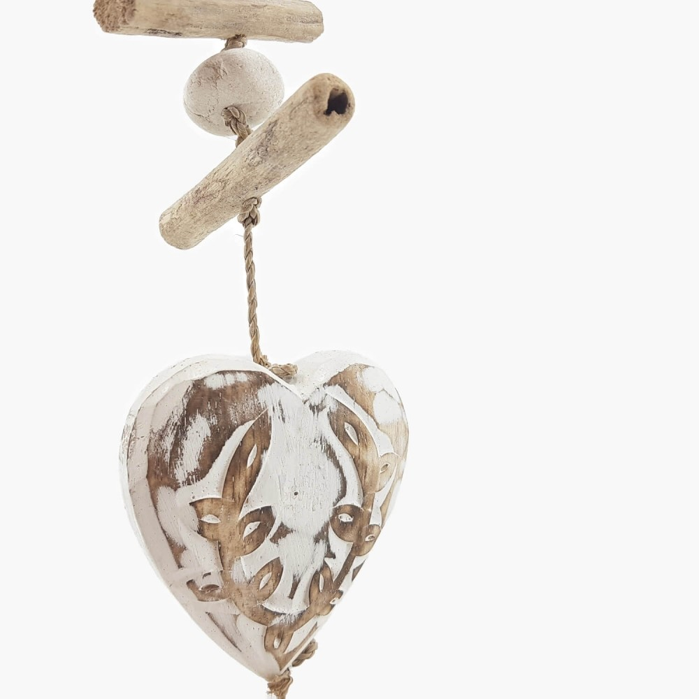 Móbile Coração Branco - 60cm - Foto 1
