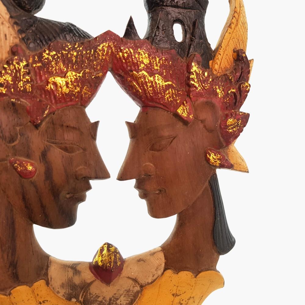 Painel Rama e Sita 18x30cm - Foto 2