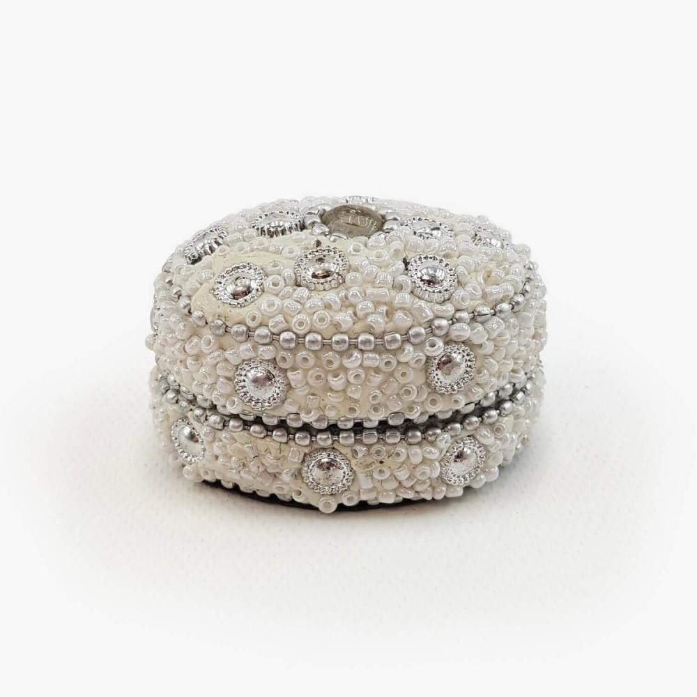 Porta-joias branco - 4x5cm - Foto 4
