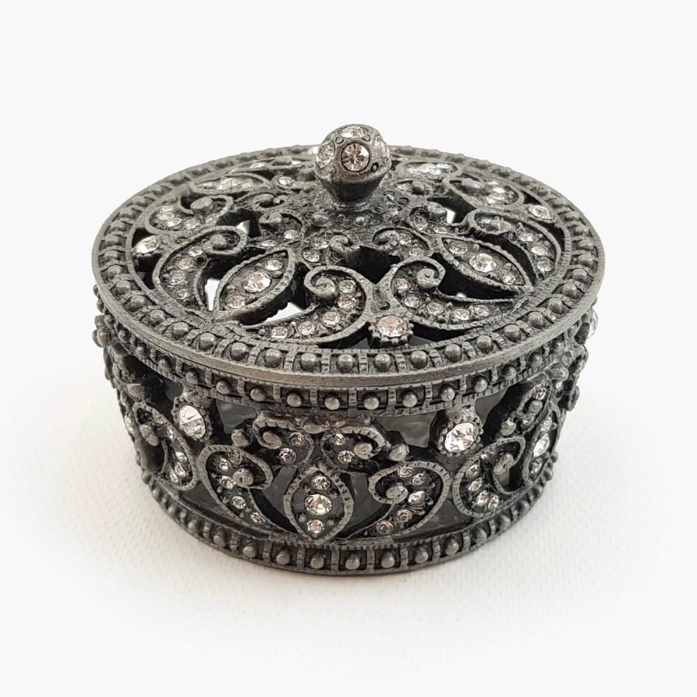 Porta-joias prateado - 6,5cm - Foto 1