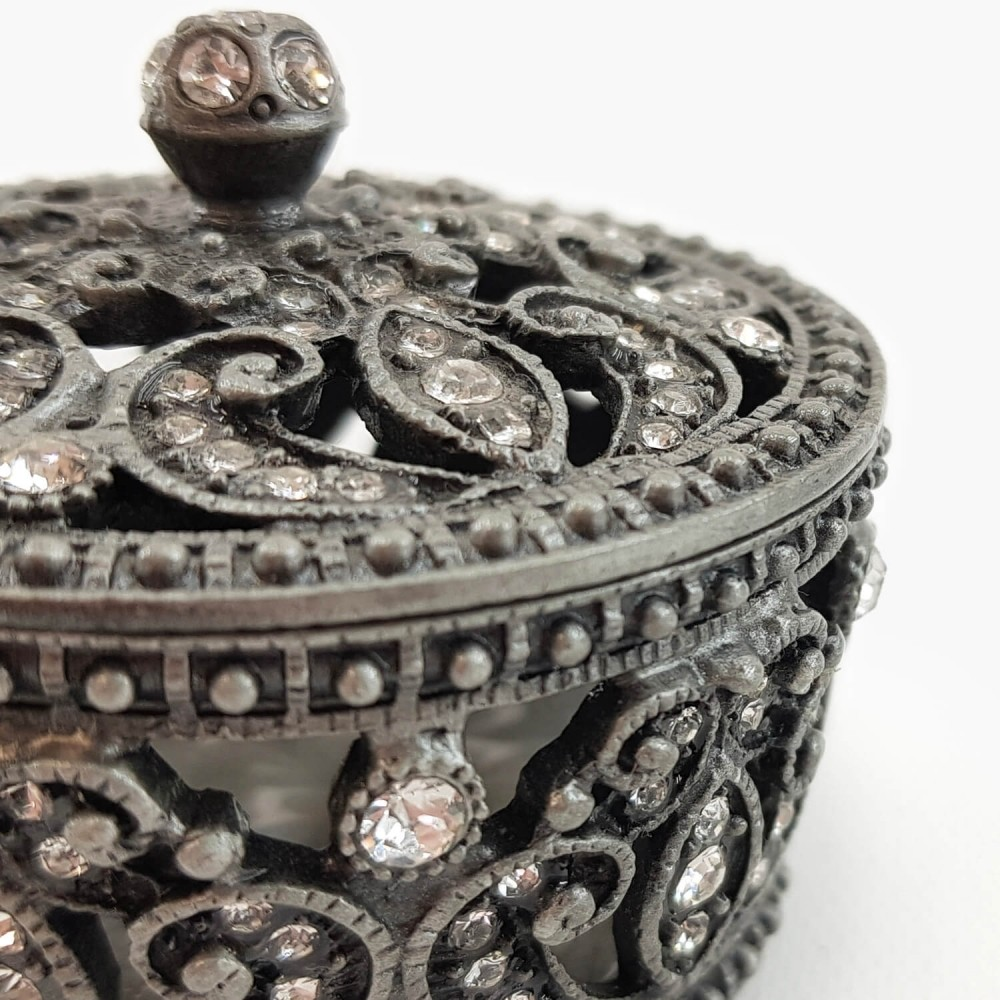 Porta-joias prateado - 6,5cm - Foto 4