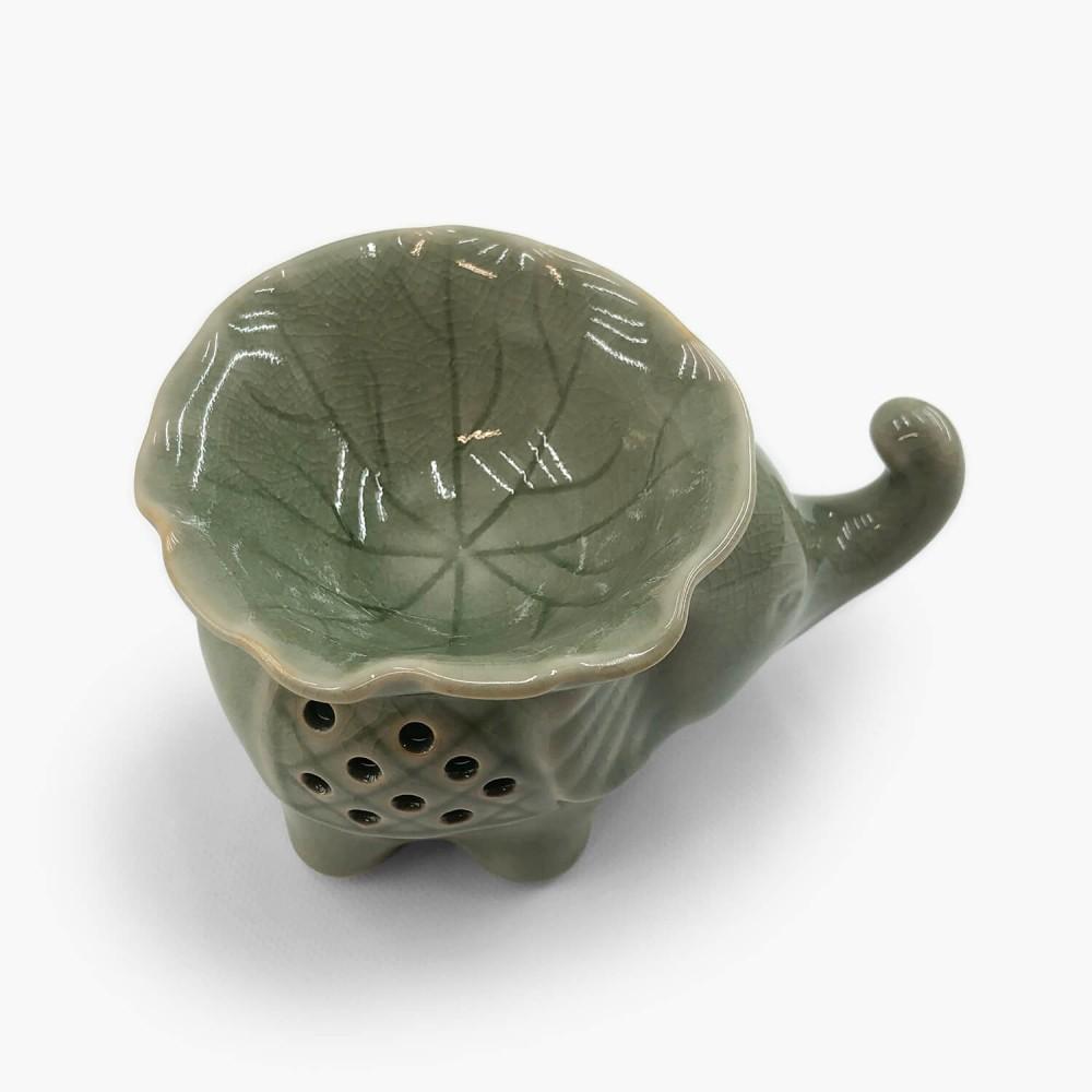 Rechaud Cerâmica Elefante 13x9cm - Foto 2