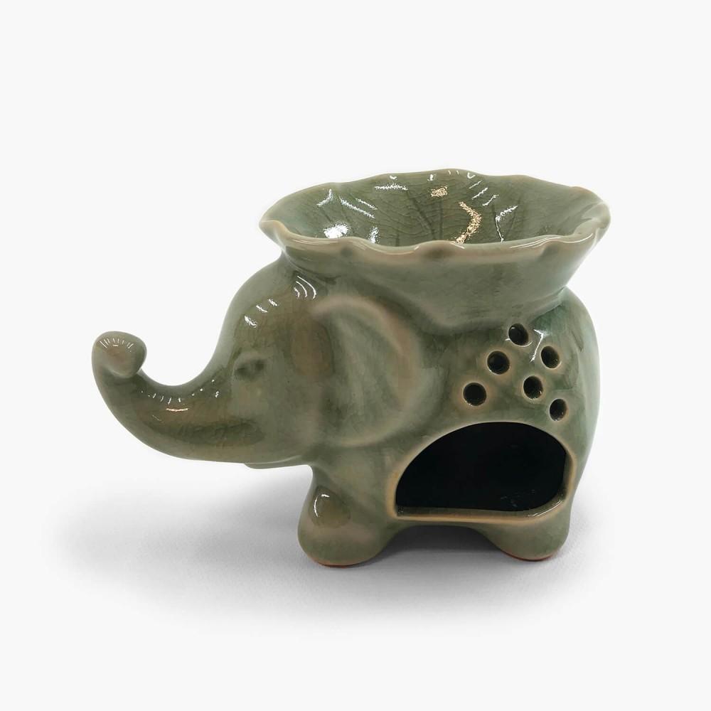 Rechaud Cerâmica Elefante 13x9cm - Foto 1