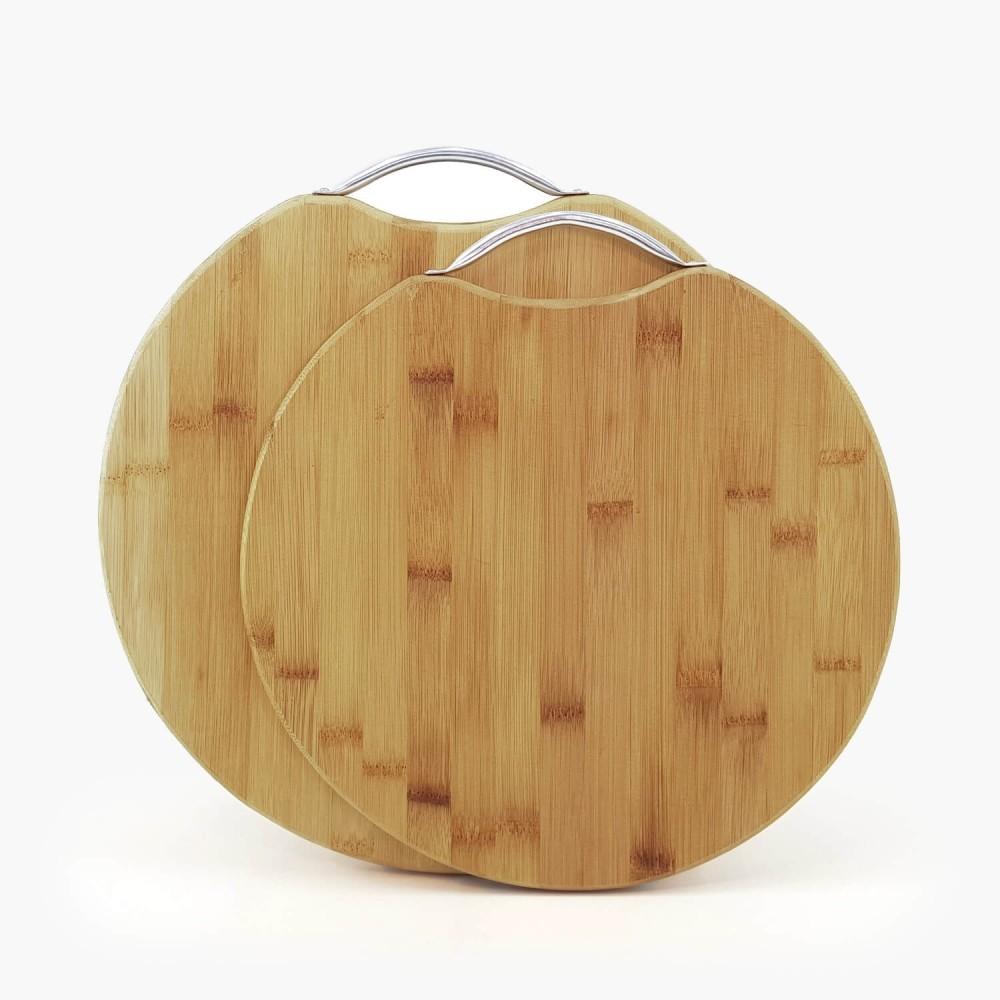 Tábua de Bambu Redonda - Foto 1