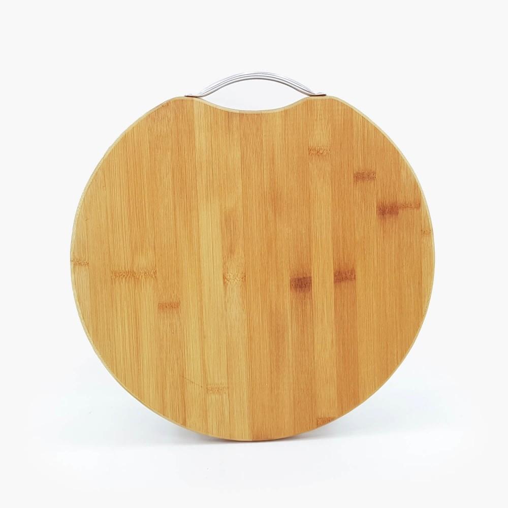 Tábua de Bambu Redonda - Foto 3