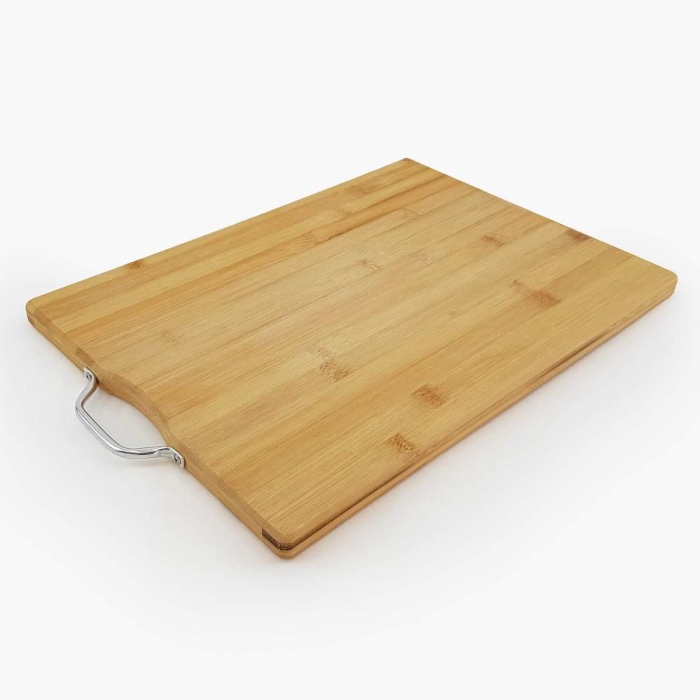 Tábua de Bambu c/ alça de metal  - Foto 2