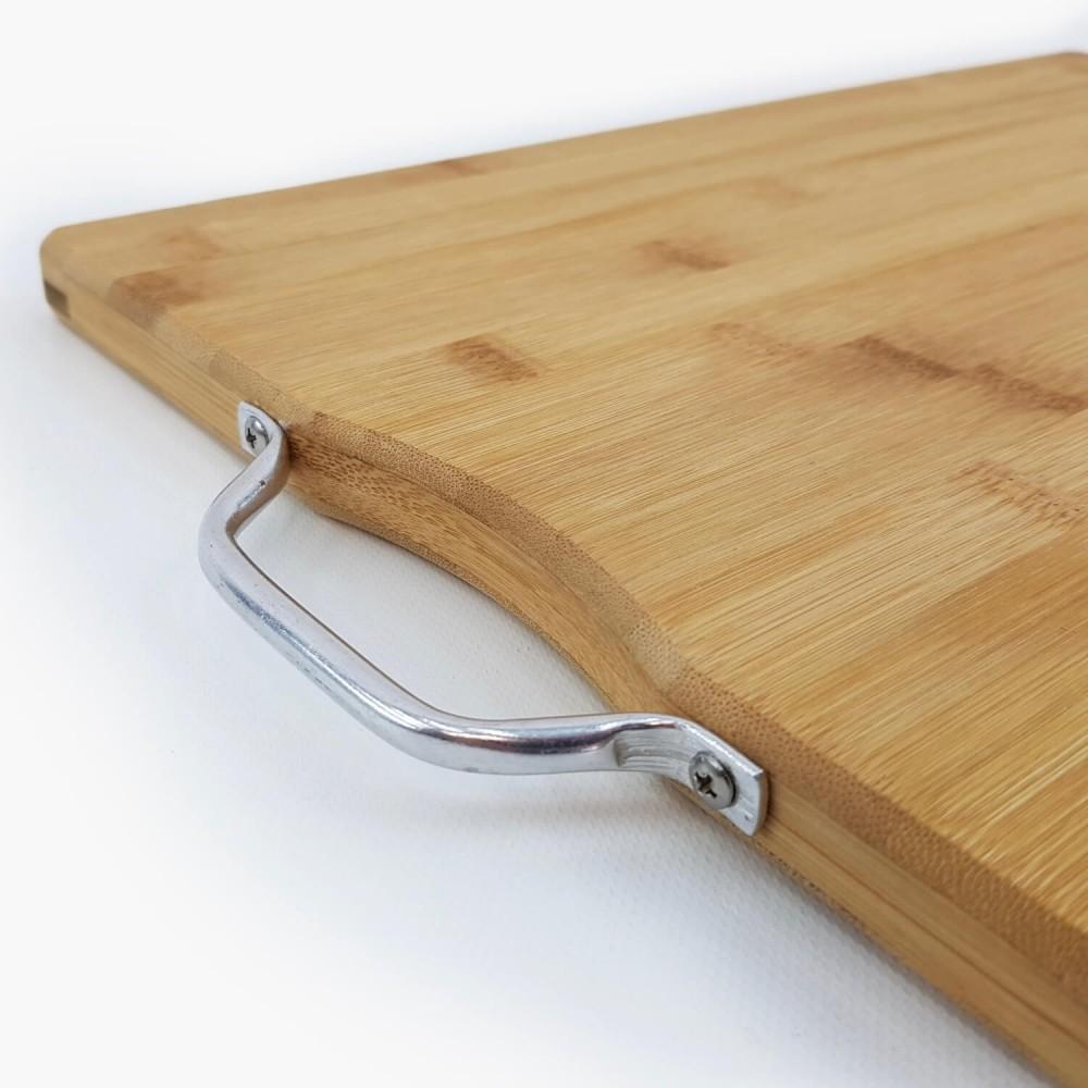 Tábua de Bambu c/ alça de metal  - Foto 4