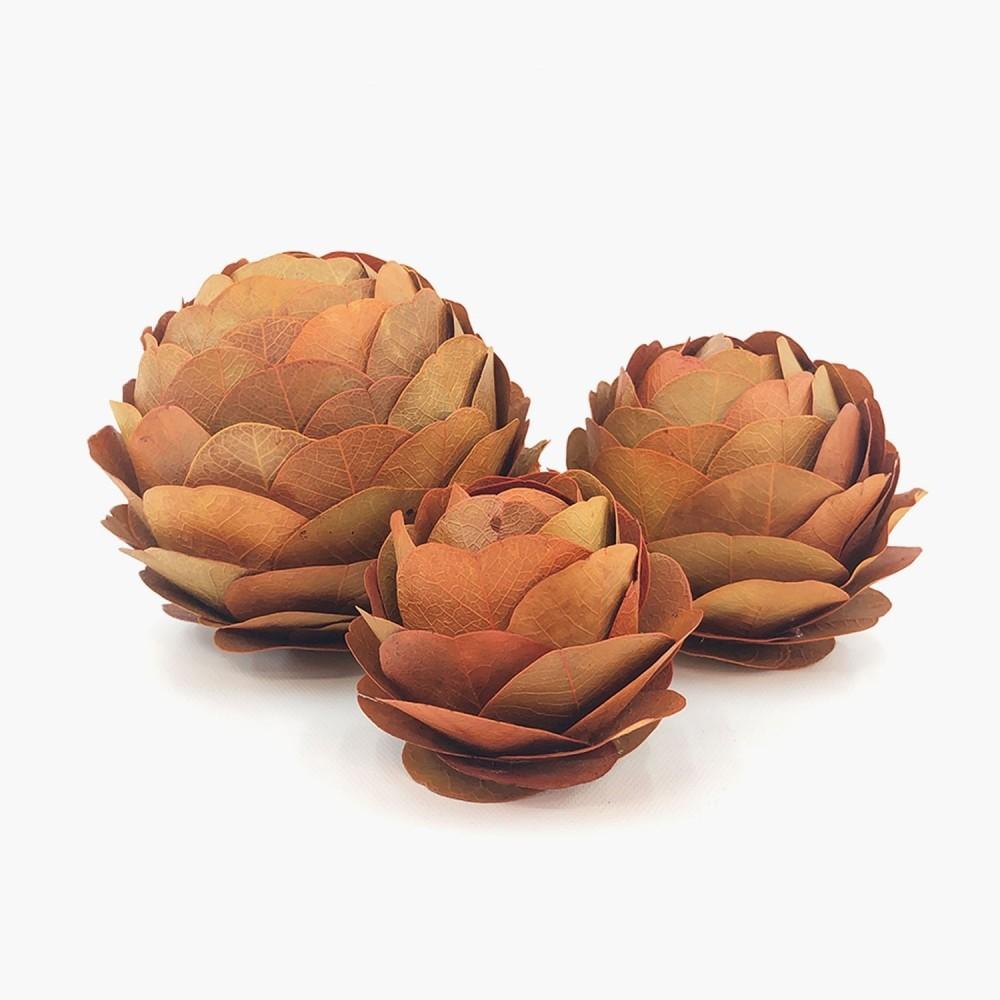 Topiaria Flor Laranja - Foto 1