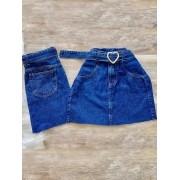 Saia Jeans Maluky Cinto Coração