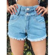 Short jeans cós duplo Maluky