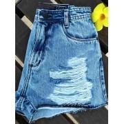Short Jeans Maluky Botão Preto