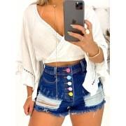 Short Jeans Maluky Botões Colors