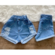 SHORT JEANS MALUKY DESTROYED BARRA CINTO