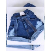 Short Jeans Maluky Escuro 7 costuras