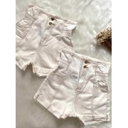 Short Jeans Maluky Simples Branco