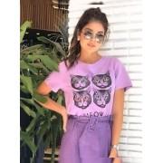 T-shirt Malha Gatinhos
