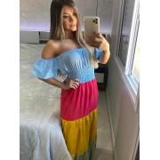 Vestido Linho Colors