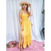 Vestido Luna Lastex Fenda