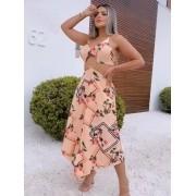 Vestido X Crepe de Viscose Floral