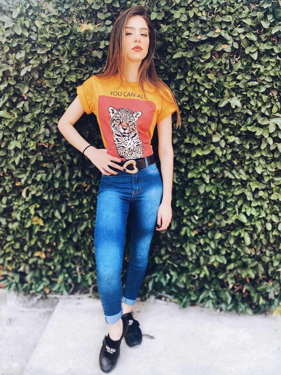 Calça Jeans Midi