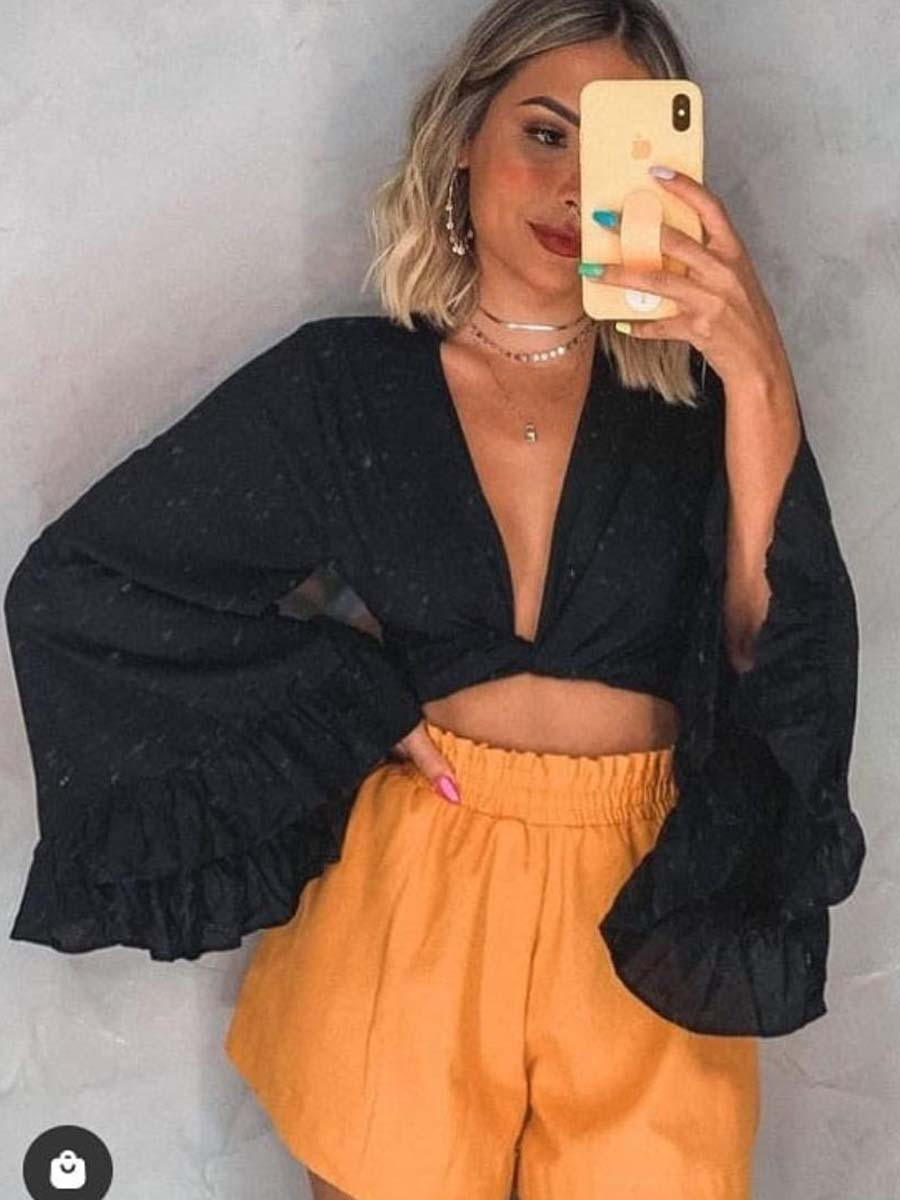 CROPPED VISCOSE FLARE