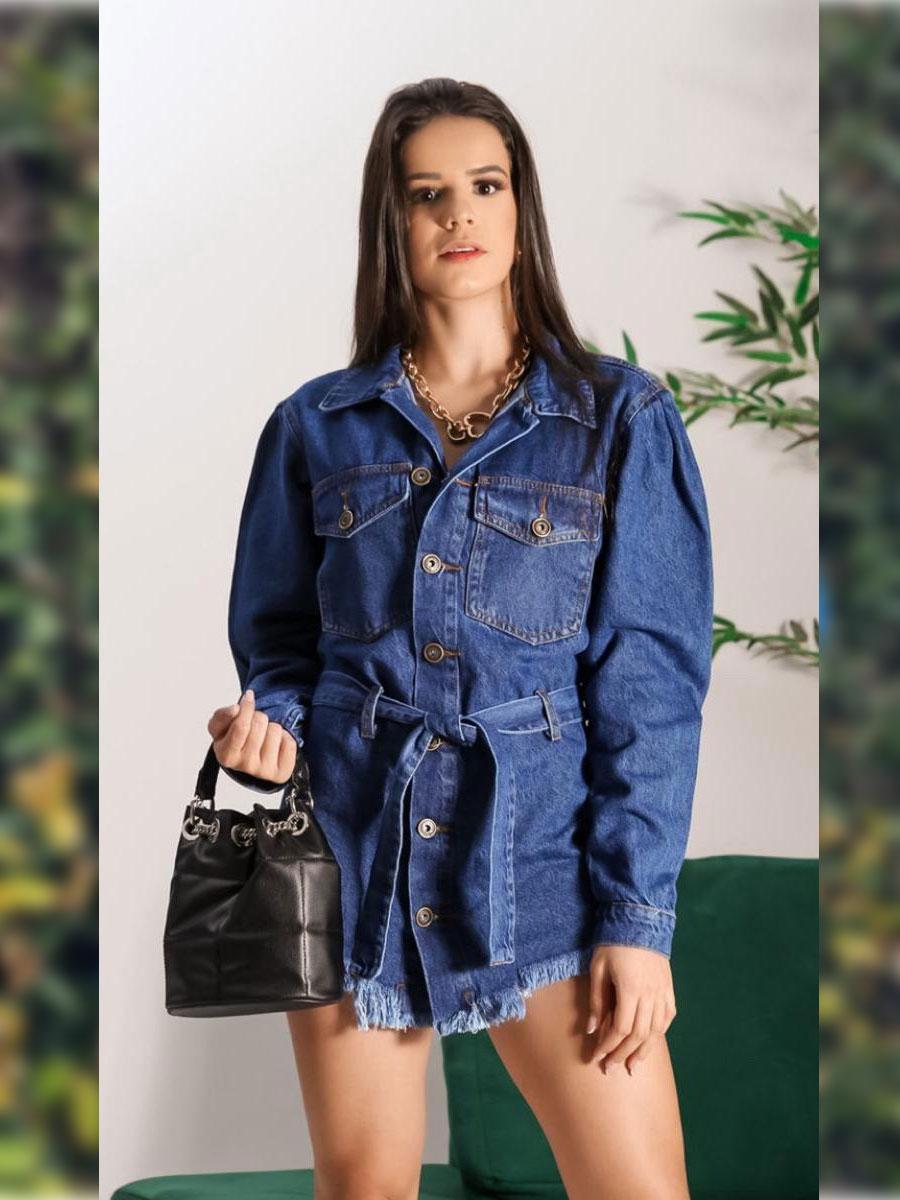 Jaqueta Jeans Escura Princesa