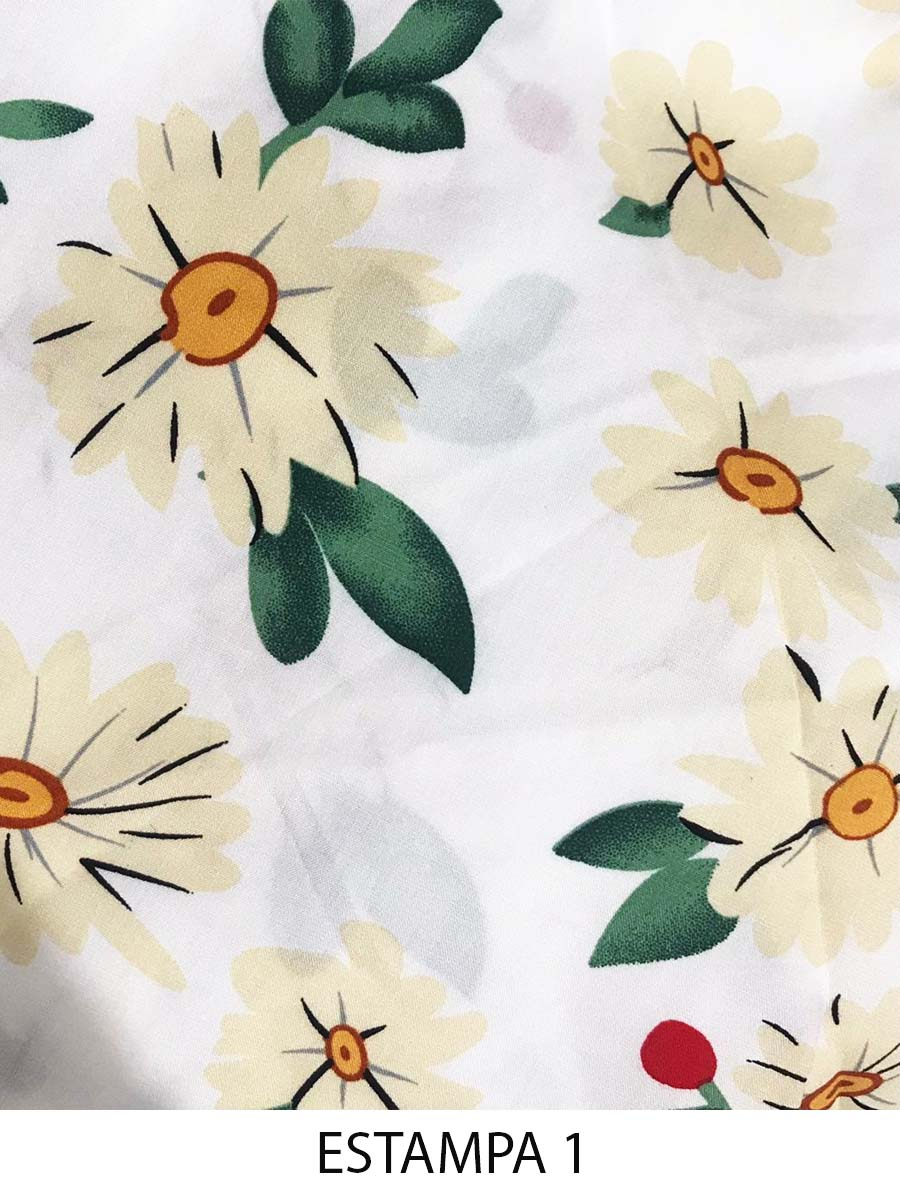 Regatinha Viscose Floral