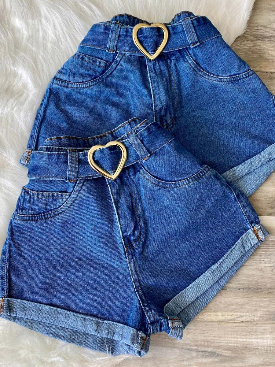 Short Jeans Maluky Cinto Coração