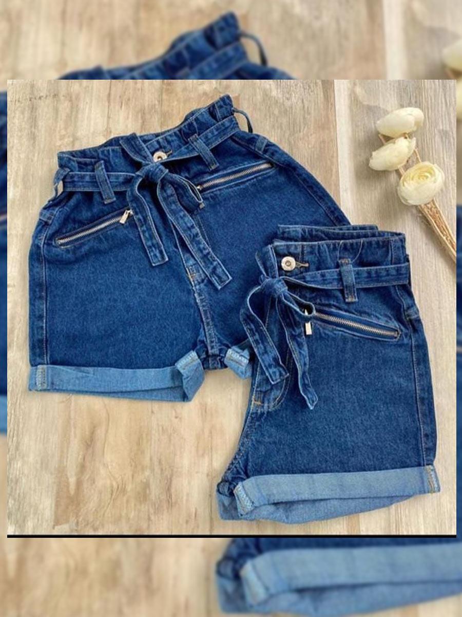 Short  Jeans Maluky Zíper