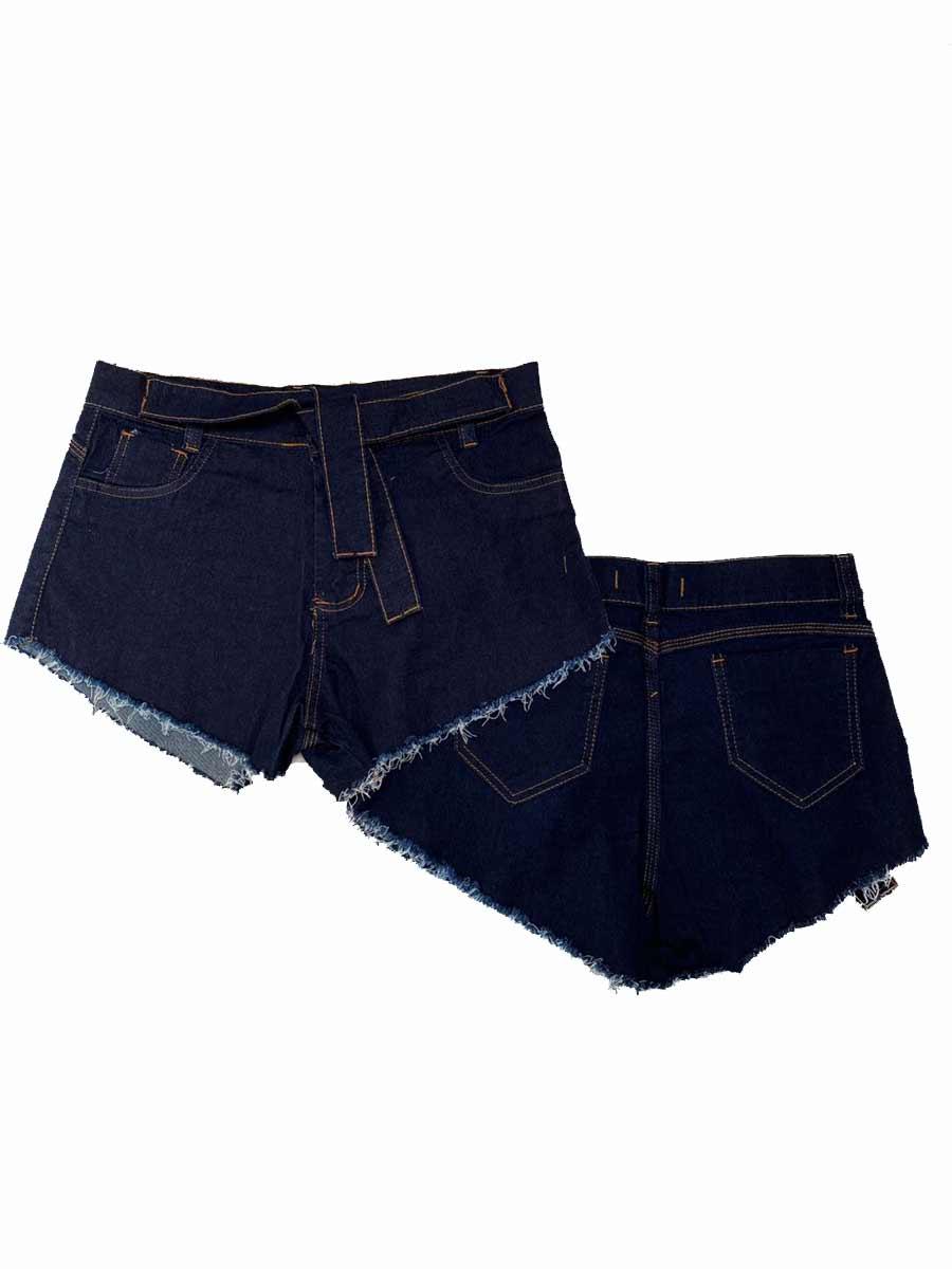 Short Jeans Midi Escuro