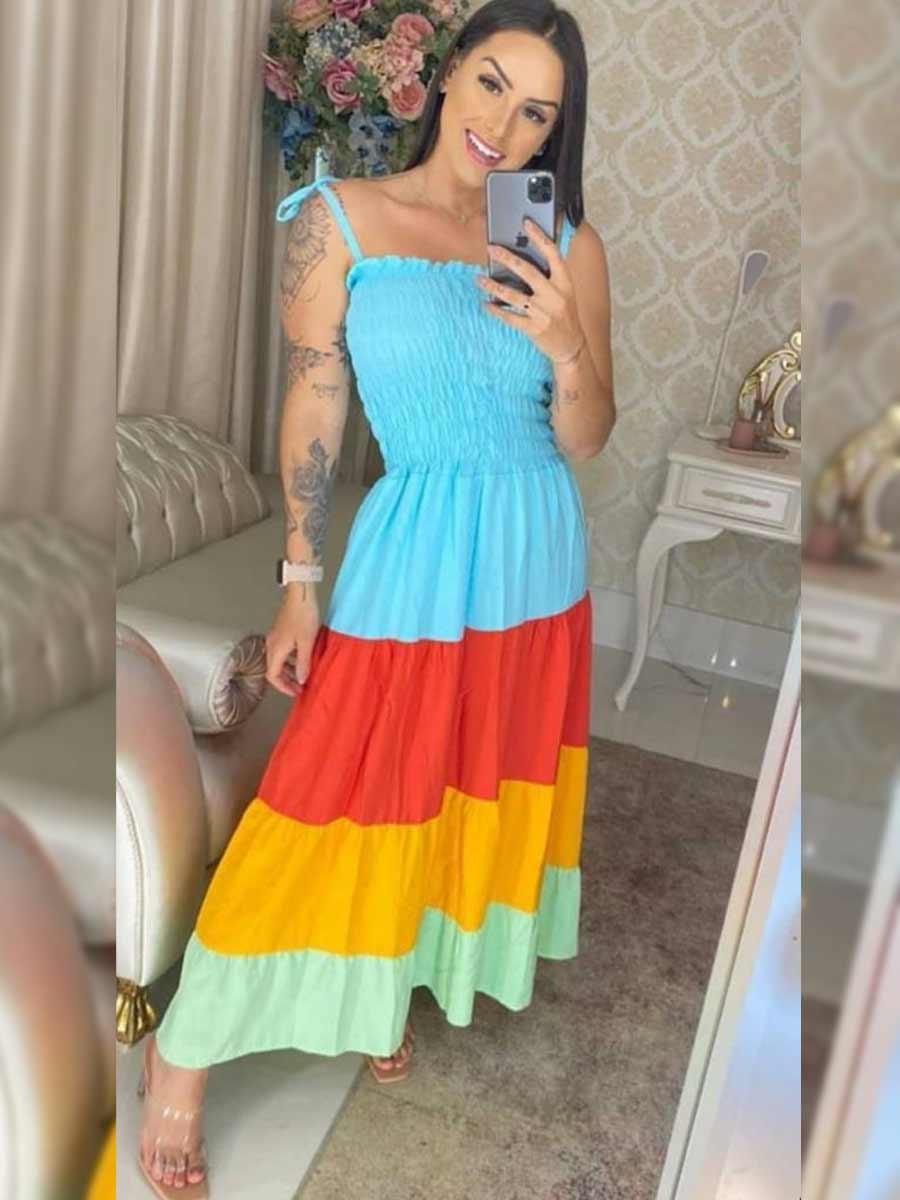 Vestido Arco Íris Elástico