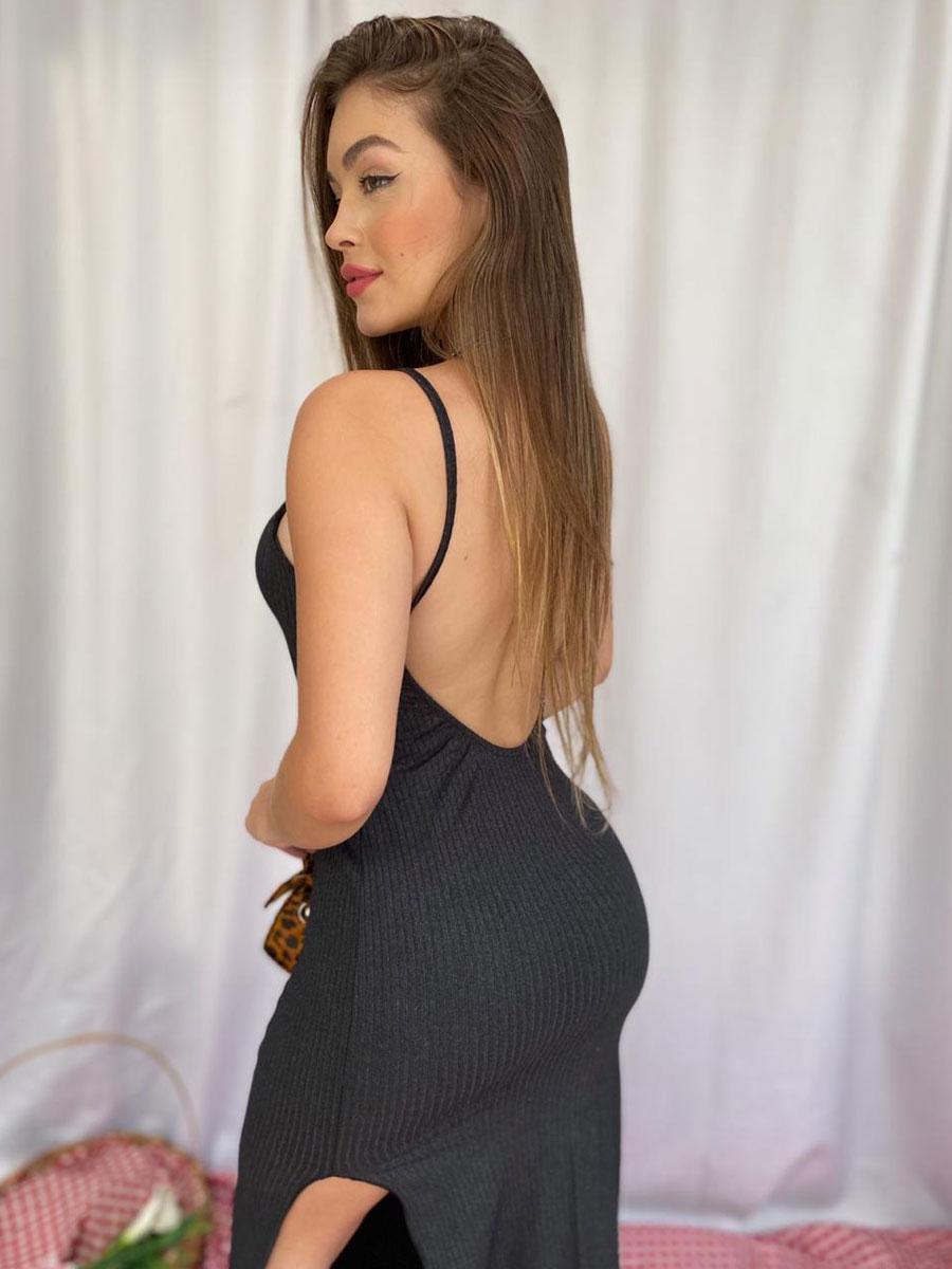 Vestido Frente Única