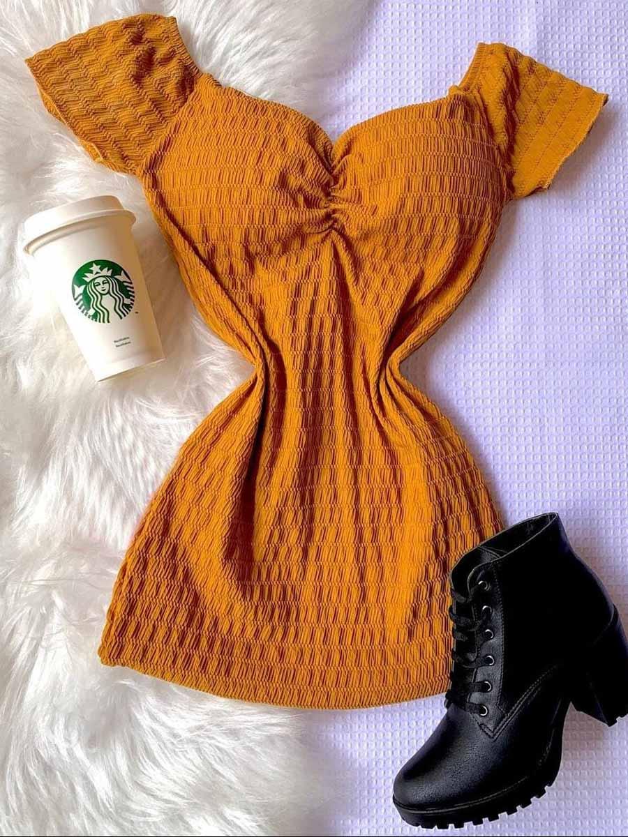 Vestido Lastex Ciganinha Bojo