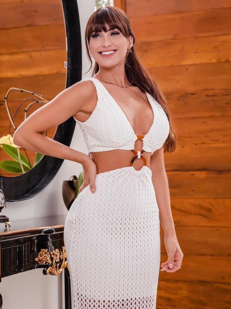 Vestido Renda Sereia Argola