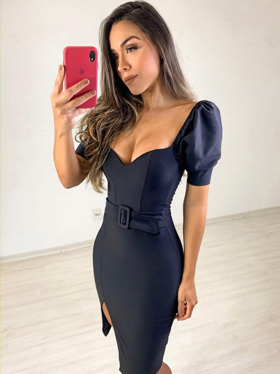 Vestido Tubinho Fivela