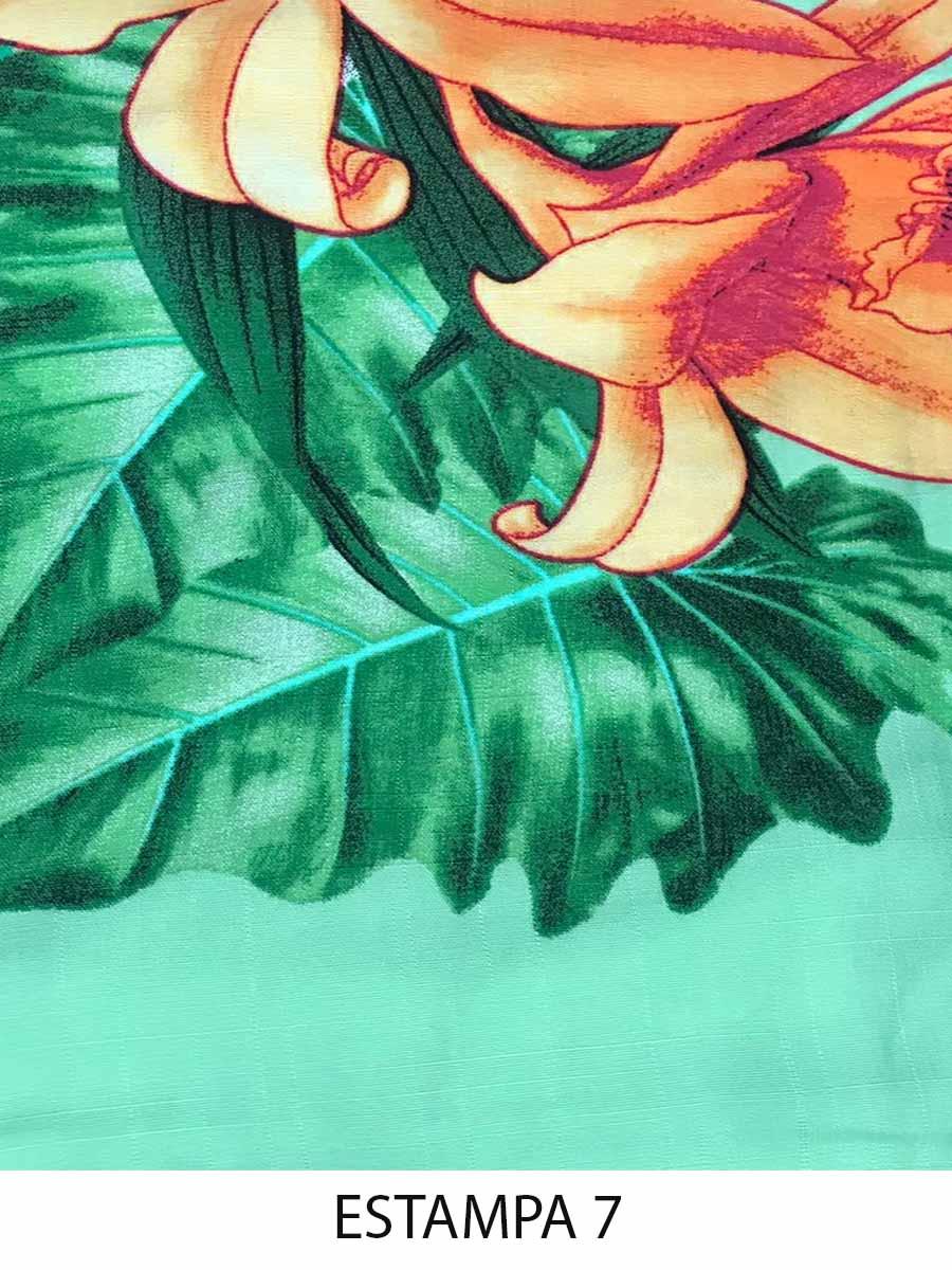 Vestido Viscose Ponta Floral