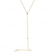Colar Y Losango Ouro 18k com Diamantes