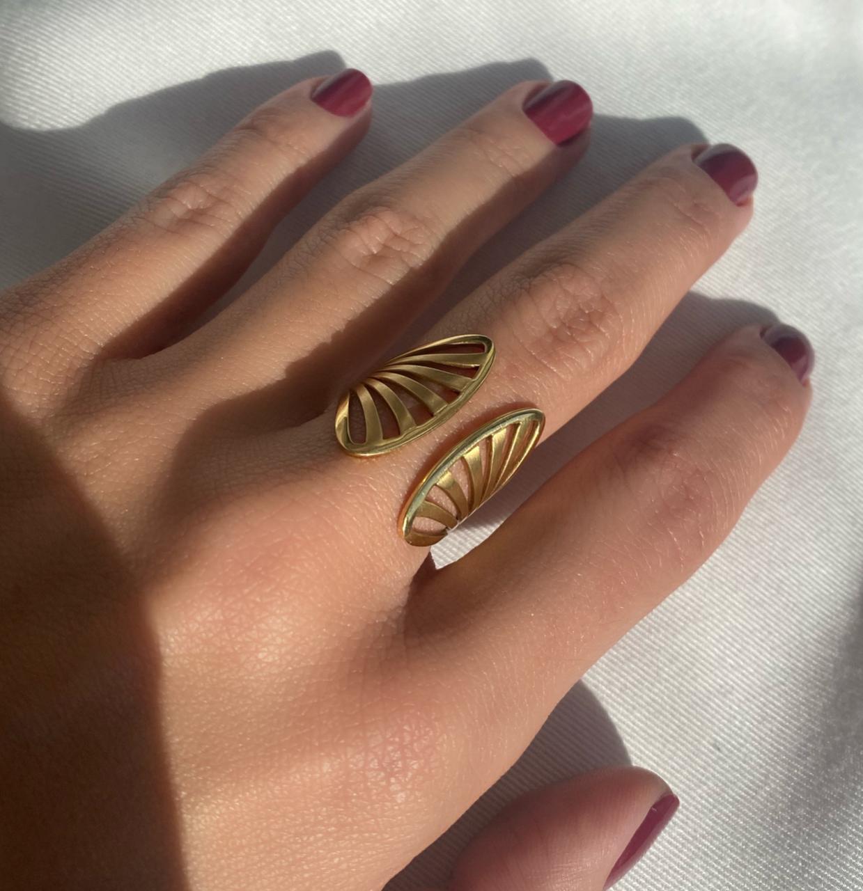 Anel Concha em Ouro 18k