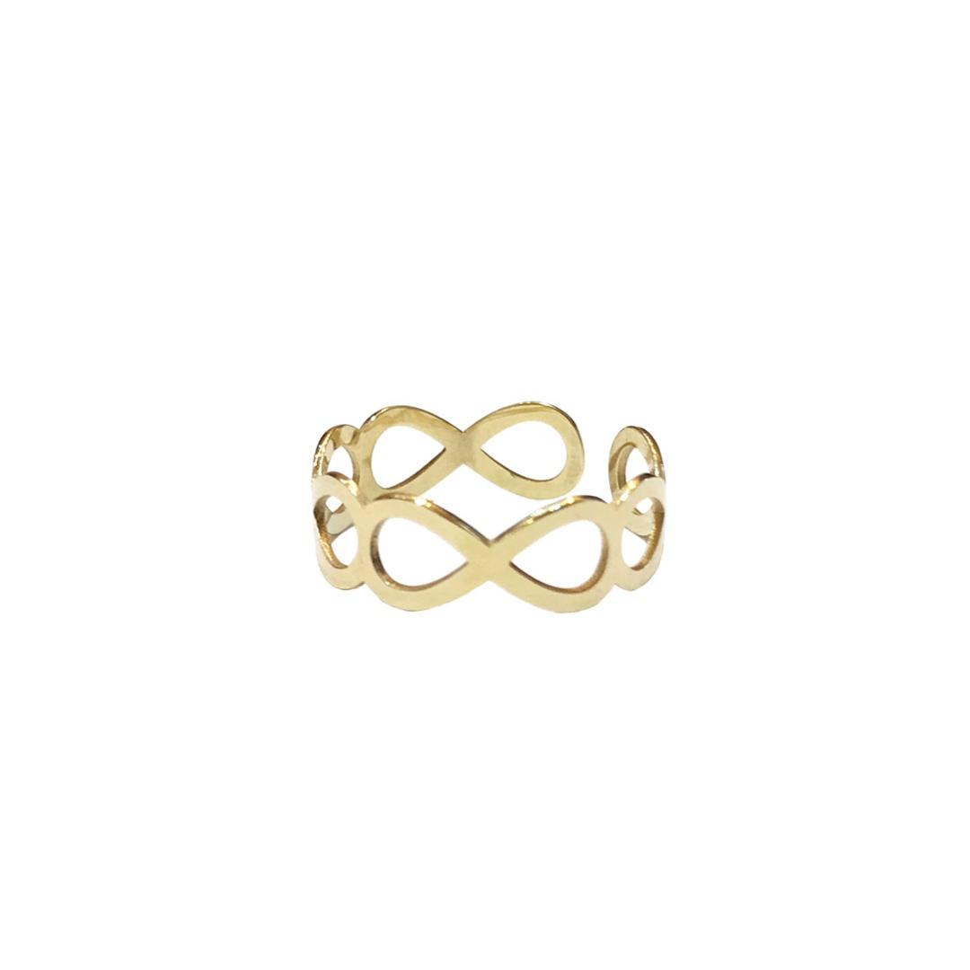 Anel Infinitos Ouro 18k