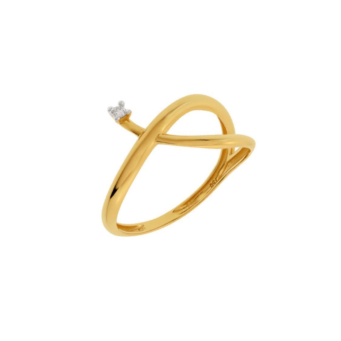 Anel Ouro 18k com Diamante